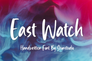 Print on Demand: East Watch Script & Handwritten Font By Sronstudio