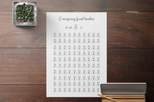 Emergency Fund Tracker, Savings Tracker Graphic Objects By Aneta Design