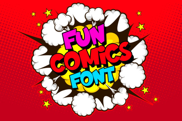 Print on Demand: Fun Comics Display Schriftarten von OWPictures