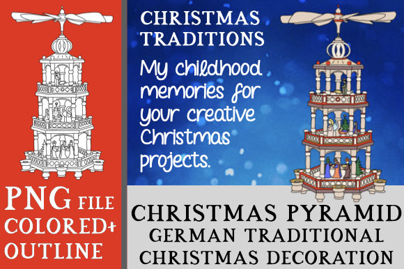 Print on Demand: German Christmas Pyramid Clipart Graphic Objects By Better Teaching Resources