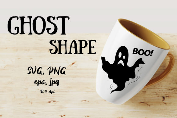 Ghost SVG Vector Shape Graphic Objects By ksenia.shuneiko