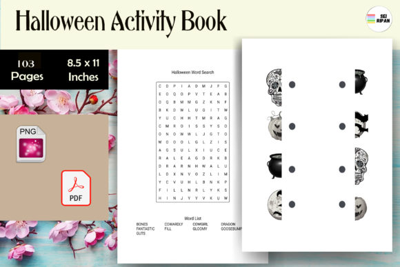 Print on Demand: Halloween Activity Book Graphic KDP Interiors By Sei Ripan