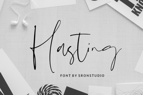 Print on Demand: Hasting Script & Handwritten Font By Sronstudio