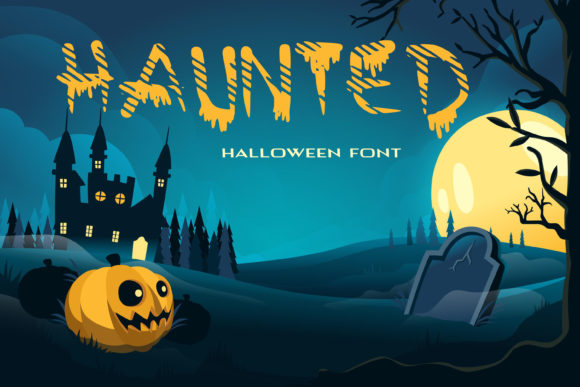 Print on Demand: Haunted Display Font By dmytroyarish