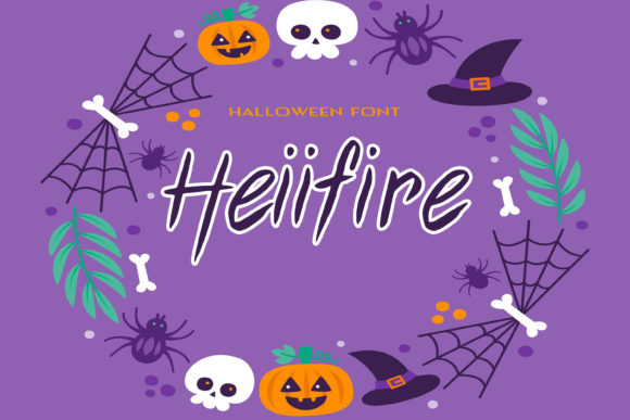 Print on Demand: Heiifire Script & Handwritten Font By dmytroyarish