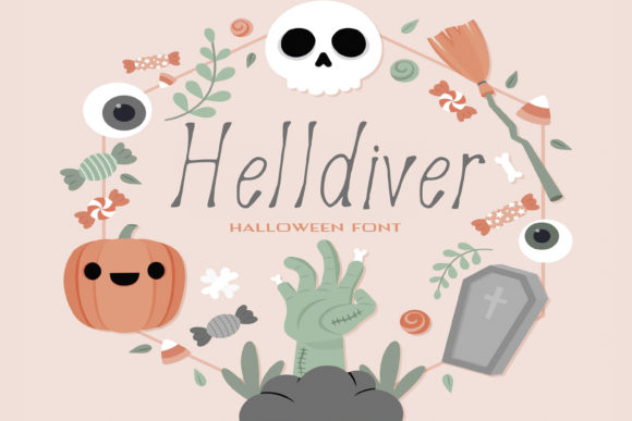 Print on Demand: Helldiver Script & Handwritten Font By dmytroyarish