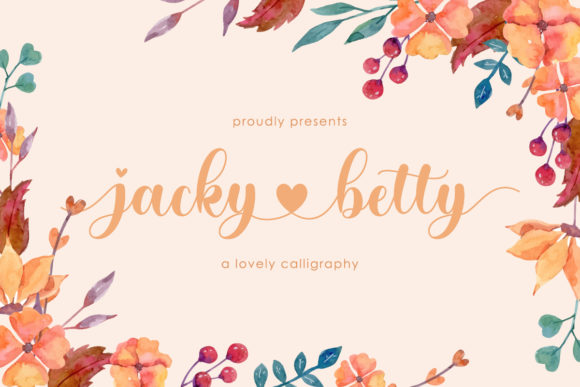 Print on Demand: Jacky Betty Script & Handwritten Font By Almeera Studio