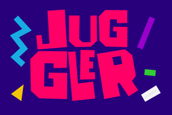 Print on Demand: Juggler Display Font By alexatypefoundry