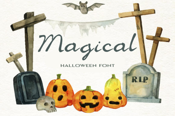 Print on Demand: Magical Script & Handwritten Font By dmytroyarish