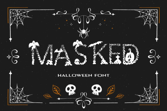 Print on Demand: Masked Display Font By dmytroyarish