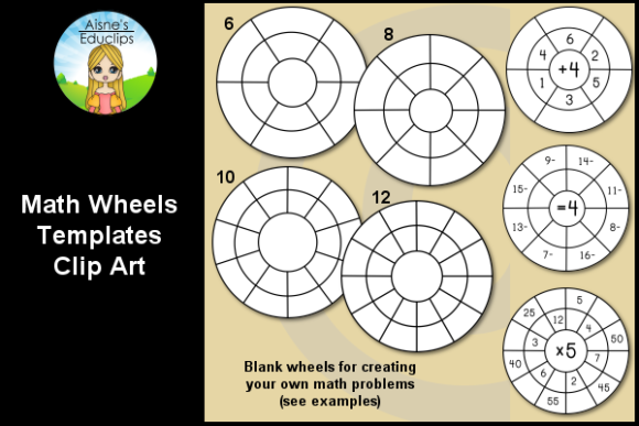 Print on Demand: Math Wheel Templates Graphic Teaching Materials By Aisne Educlips