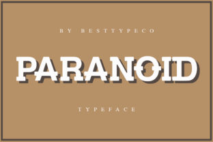 Print on Demand: Paranoid Display Font By besttypeco