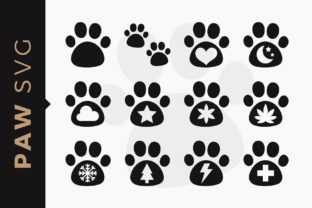Print on Demand: Pet Paws Dog Clipart SVG Set Graphic Illustrations By DTCreativeLab