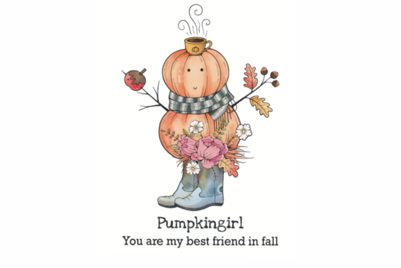 Print on Demand: Pumpkin Girl Graphic Crafts By Twin Flame Journey into the unknown