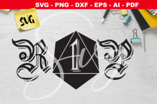 Print on Demand: RIP DnD D20 Dice SVG - RPG Graphic Crafts By Novart