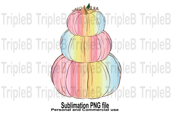Print on Demand: Rainbow Pumpkins Sublimation Designs Graphic Crafts By TripleBcraft