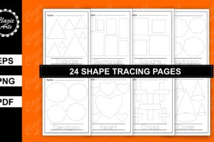 Print on Demand: Shape Tracing Worksheets Graphic Graphic Templates By ClazicArts