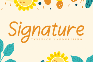 Print on Demand: Signature Script & Handwritten Font By andikastudio