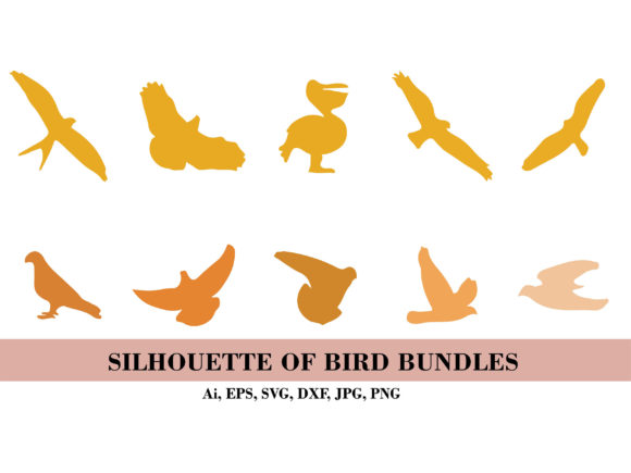 Silhouette of Birds Bundle Graphic Illustrations By themagicboxart