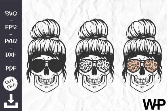Skull with Glasses Graphic Crafts By wanchana365