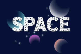 Print on Demand: Space Decorative Font By Vladimir Carrer