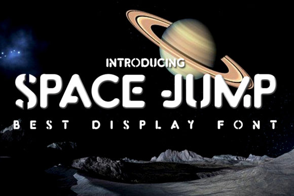 Print on Demand: Space Jump Display Font By Eddygoodboy