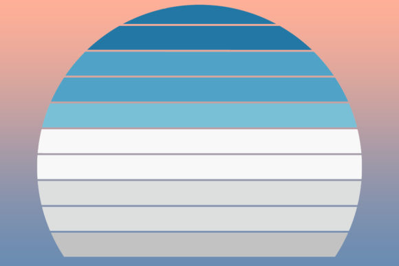 Print on Demand: Striped Retro Sunset Winter Edition Graphic Backgrounds By atlasart
