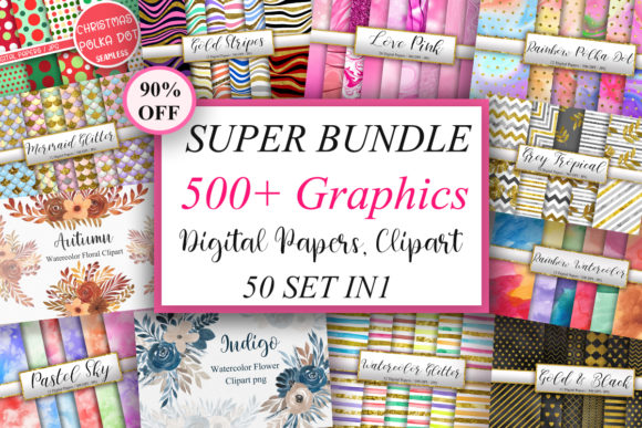 Super Bundle Graphics  By PinkPearly