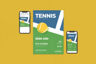Tennis Tournament Flyer Set Gráfico Plantillas para Impresión Por ihsanshihab.design