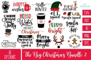 The Big Christmas Bundle 2 Svg Cut File Graphic Crafts By Rumi Designed