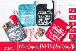 The Christmas Pot Holder Bundle Svg Graphic Crafts By Rumi Designed