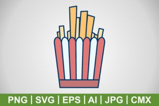 Print on Demand: Vector FrenchFries Icon Graphic Icons By IYIKON