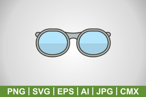 Print on Demand: Vector Glasses Icon Graphic Icons By IYIKON