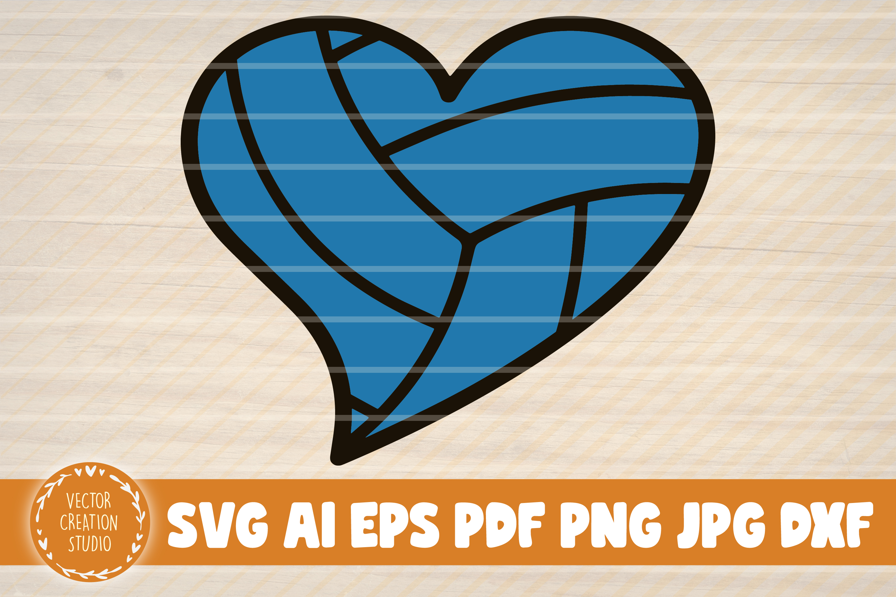 Volleyball With Heart Clipart (#1732049) - PinClipart