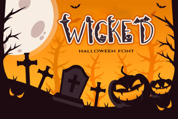 Print on Demand: Wicked Graveyard Decorative Font By dmytroyarish