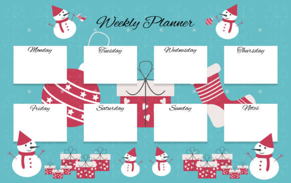 Christmas Weekly Planner Graphic Graphic Templates By usmanfirdaus446