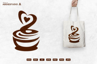 Print on Demand: Hot Coffee Lover with Love Aroma Svg Graphic Crafts By Abdie