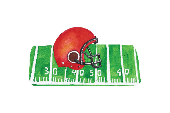 Football and Helmet Sports Craft Cut File By Creative Fabrica Crafts