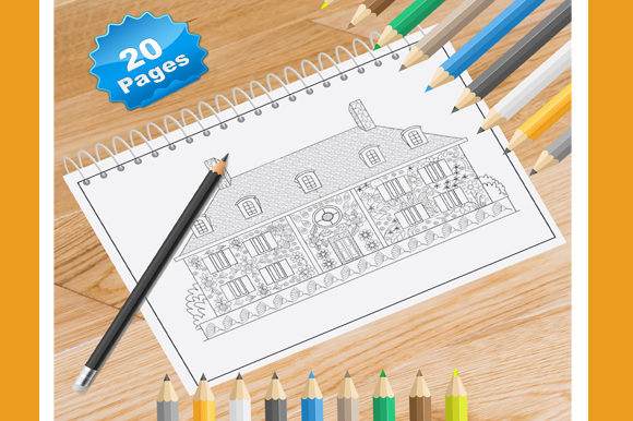 Print on Demand: 20 French House Coloring Pages for Adult Graphic Coloring Pages & Books Adults By Coloring World