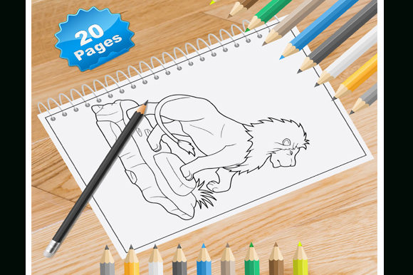 Print on Demand: 20 Lion Coloring Pages for Kids Graphic Coloring Pages & Books Kids By Coloring World