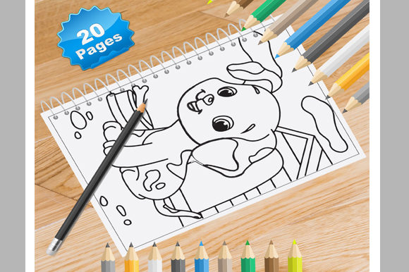 Print on Demand: 20 Puppy Coloring Pages for Kids Graphic Coloring Pages & Books Kids By Coloring World