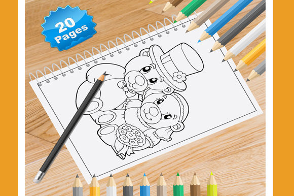 Print on Demand: 20 Teddy Bear Coloring Pages for Kids Graphic Coloring Pages & Books Kids By Coloring World