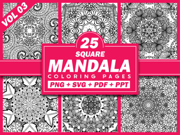 Print on Demand: 25 Mandala Coloring Pages | KDP Template Graphic Coloring Pages & Books Adults By Fayne