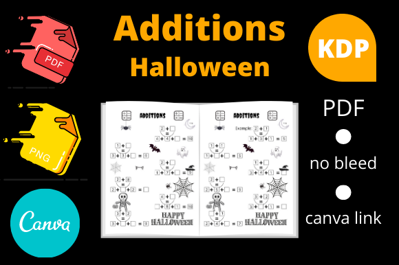 Print on Demand: Additions, Halloween Activities for Kids Graphic KDP Interiors By Dunkyshot