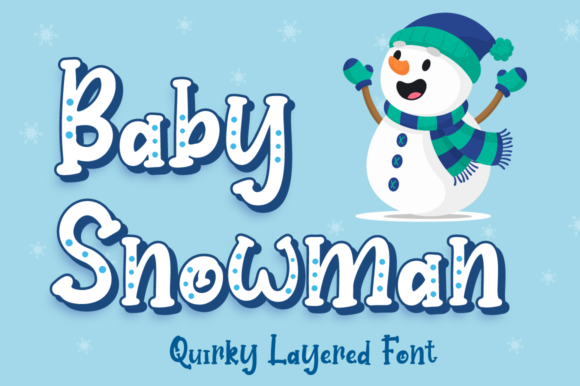 Print on Demand: Baby Snowman Display Font By attypestudio