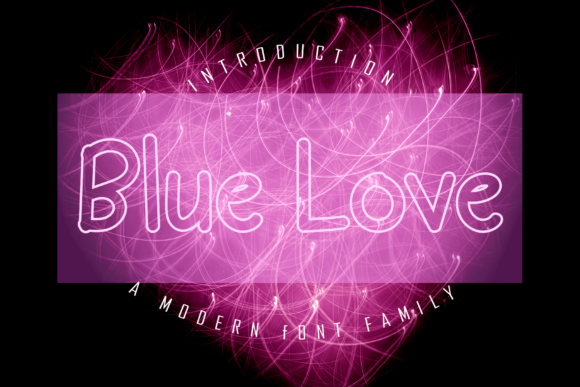 Print on Demand: Blue Love Display Font By giatstudios