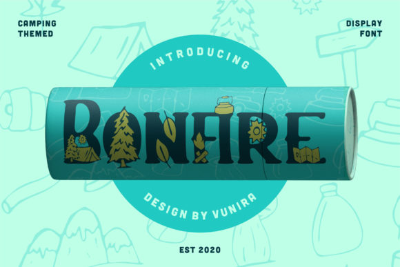 Print on Demand: Bonfire Decorative Font By Vunira