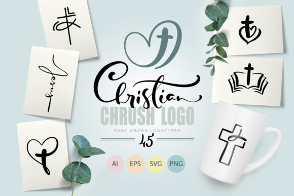 Christian Church Logo Graphic Objects By Happy Letters