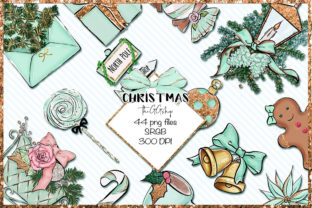 Print on Demand: Christmas Clipart Bundle Graphic Illustrations By TheGGShop