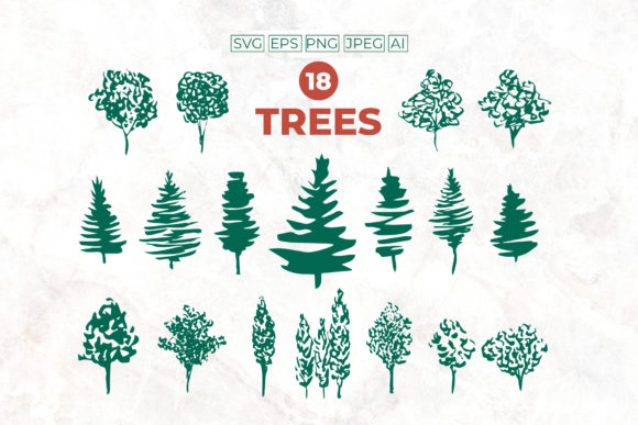 Christmas Tree SVG Set. Tree SVG Design Graphic 3D Christmas By ilonitta.r